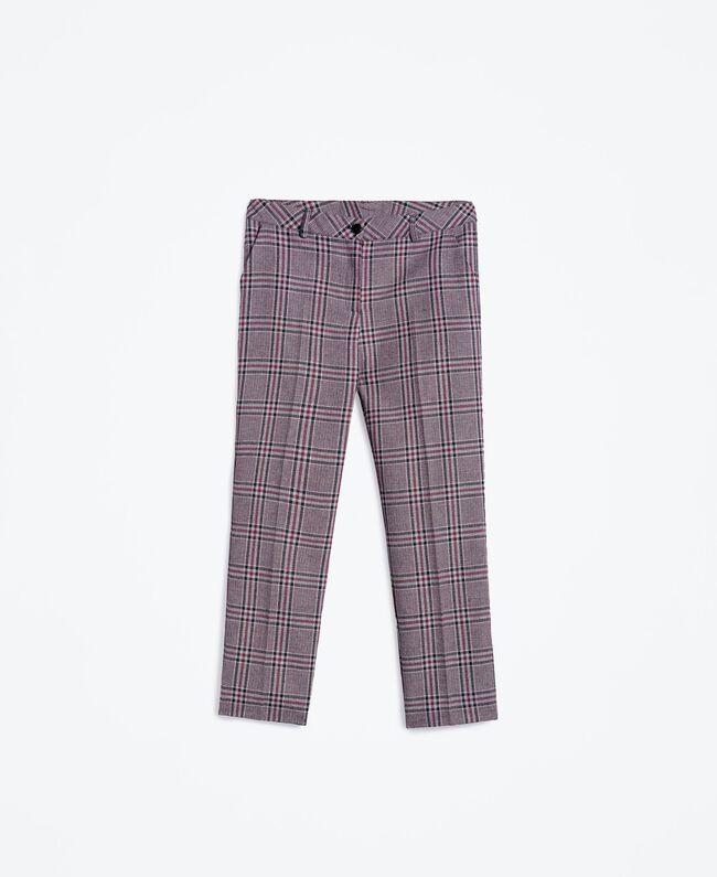 """Drainpipe trousers """"Reddish"""" Red Tartan Print Woman LA8NFF-01"""