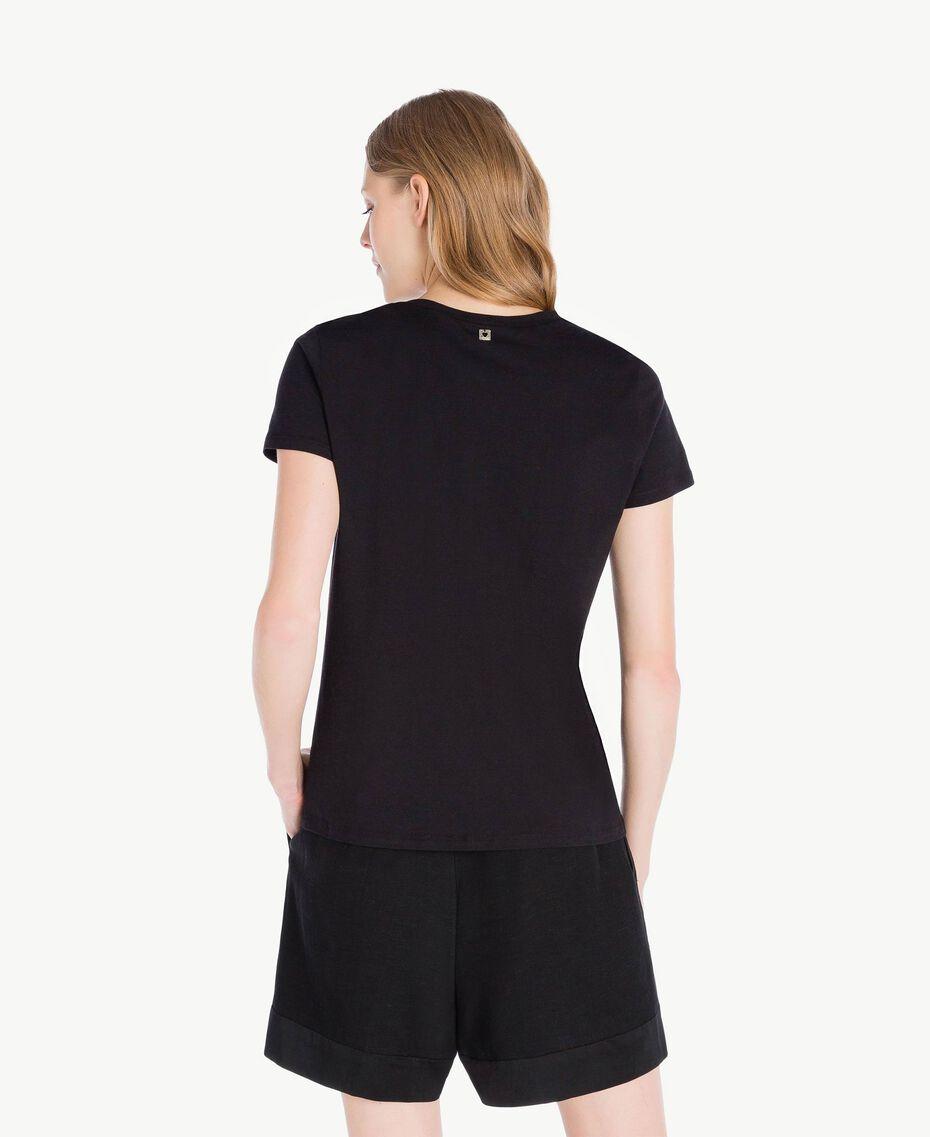 T-Shirt mit Streifen Schwarz Frau TS829U-03