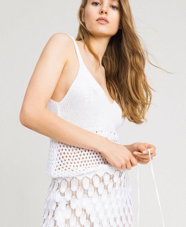 Openwork cotton dress White Woman 191LB3GCC-04