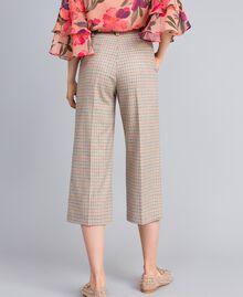 Check flannel cropped trousers Multicolour Check Woman TA8212-03