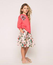 Jupe corolle en popeline imprimée Imprimé Rose «Savane» Enfant 201GJ2336-02