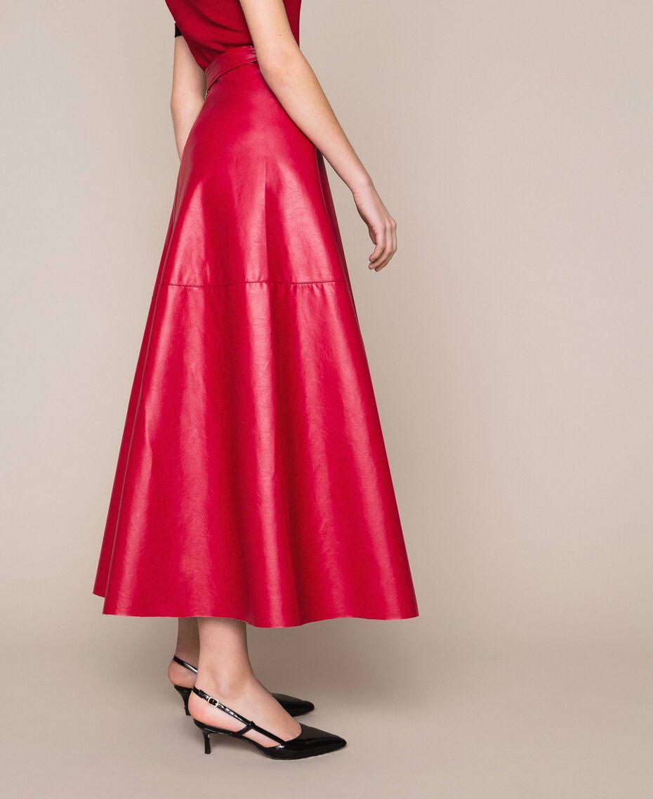 Long overlapping skirt Venetian Red Woman 201MP2042-02