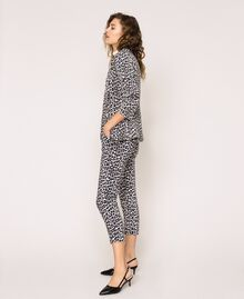 Animal print cigarette trousers Lily Animal Print / Black Woman 201MP2452-02