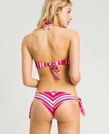 "Striped Brazilian bikini bottom Pink / ""Tangerine Cream"" Pink Multicolour Striping Woman 191LBMA77-03"
