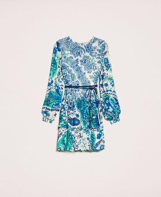 Kleid aus Georgette mit Paisleyprint