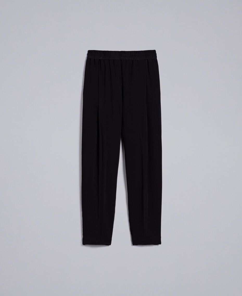 Georgette jogging trousers Black Woman PA82HK-0S