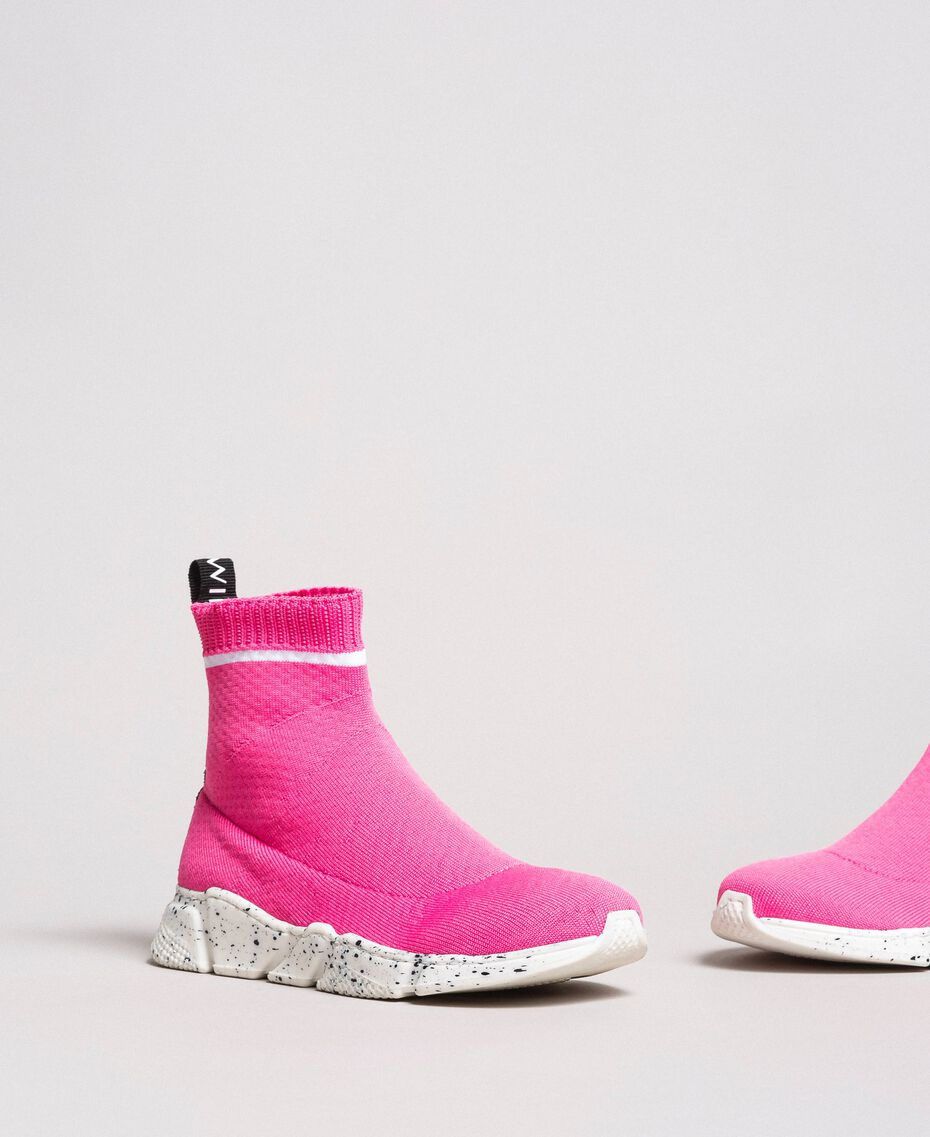 """Stretch knit sneakers """"Crystal Pink"""" Child 191GCJ010-01"""