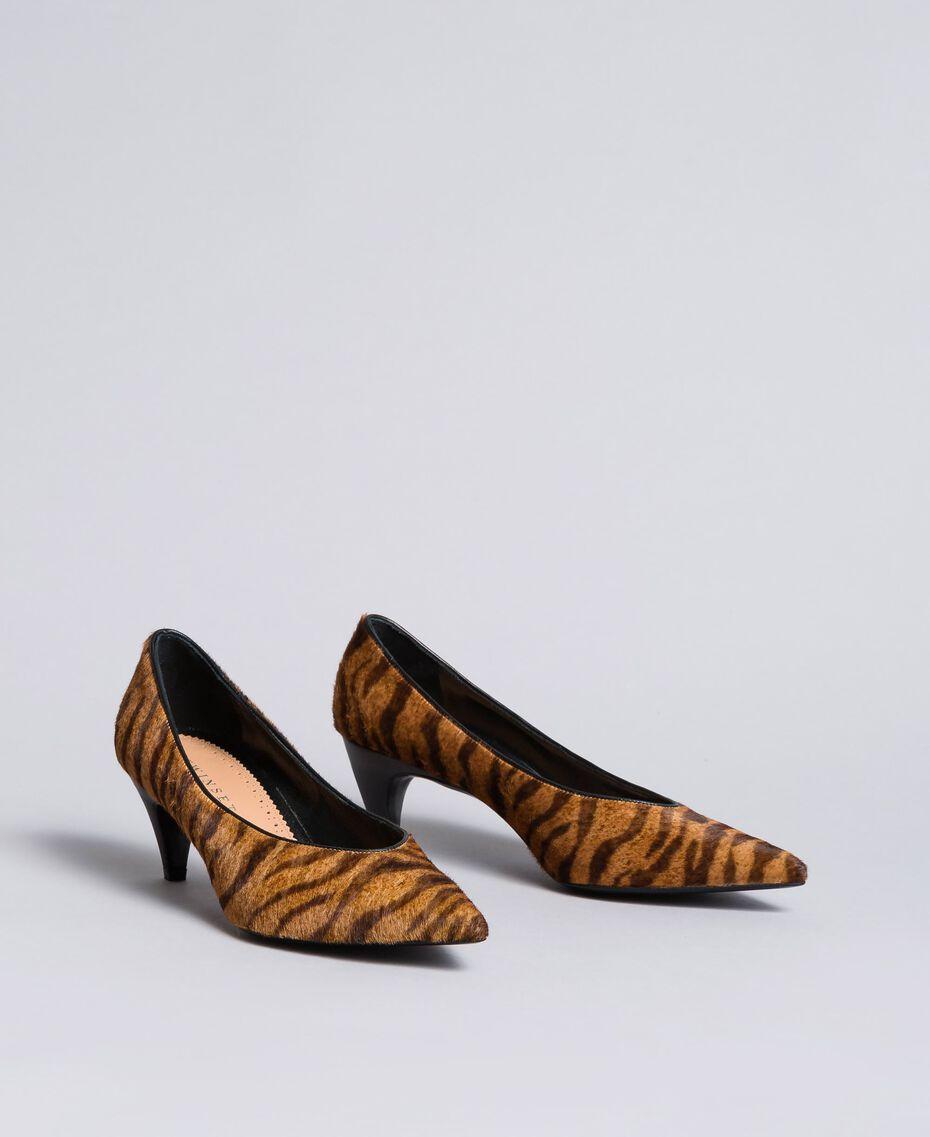 Escarpins avec imprimé animalier Imprimé Tigre Femme CA8TEA-02