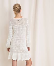 Lace effect knit dress White Snow Woman 201TP3210-04