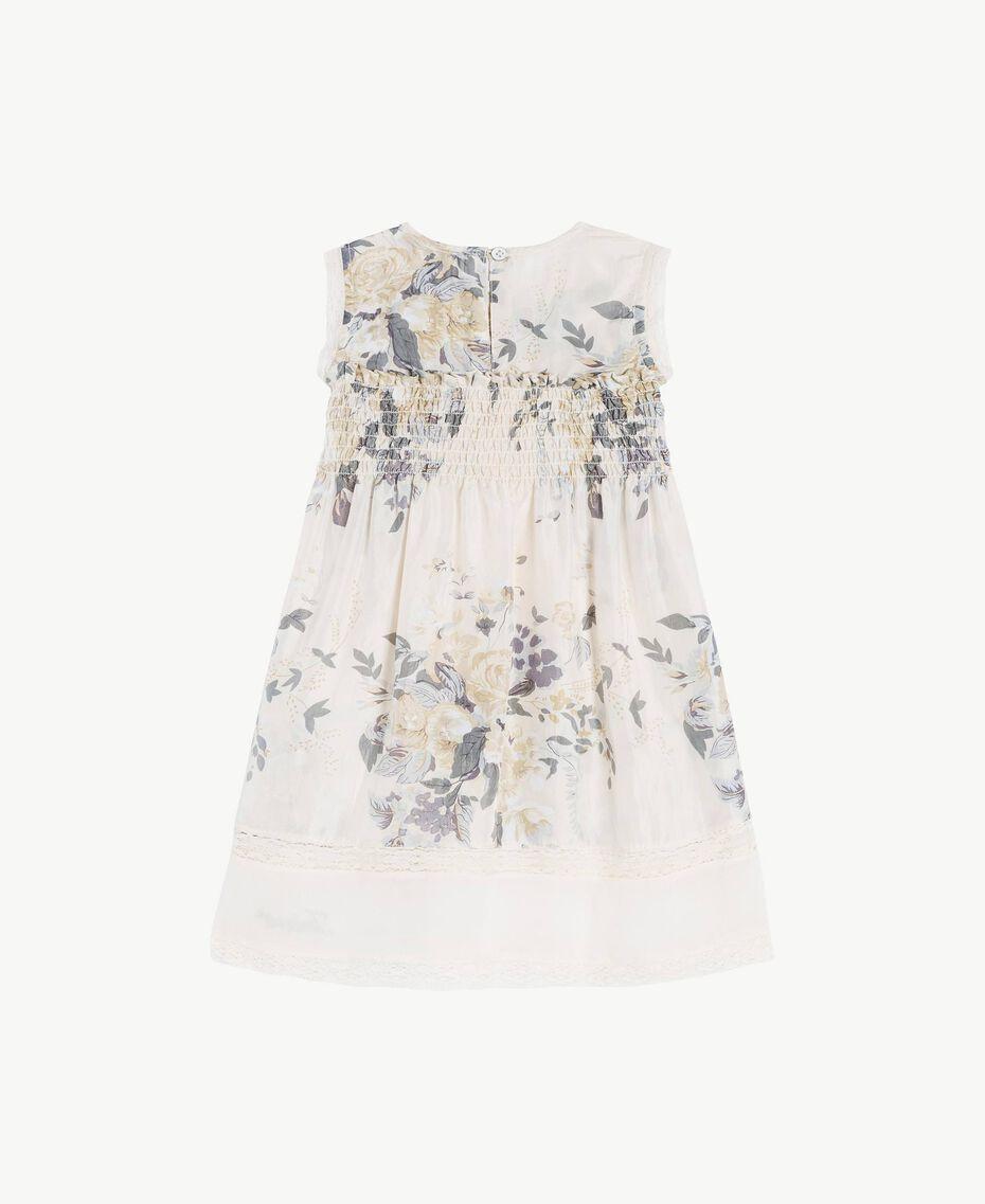 Silk dress Flowers Print / Light Smoke Grey Child FS82EN-02