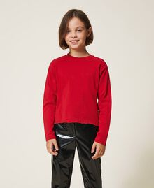 T-shirt with embroidered logo Cherry Red Child 202GJ2470-01