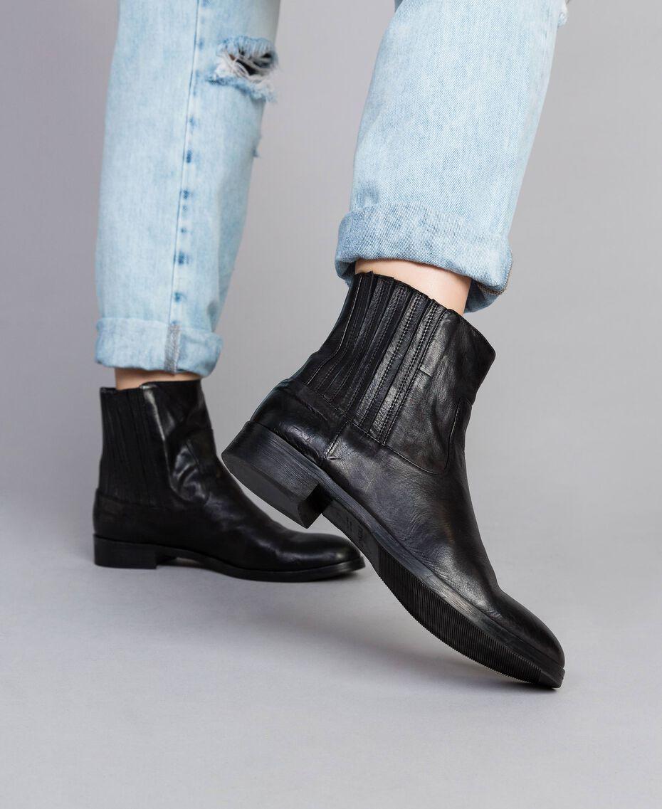 Leather beatles Black Woman CA8TKA-0S