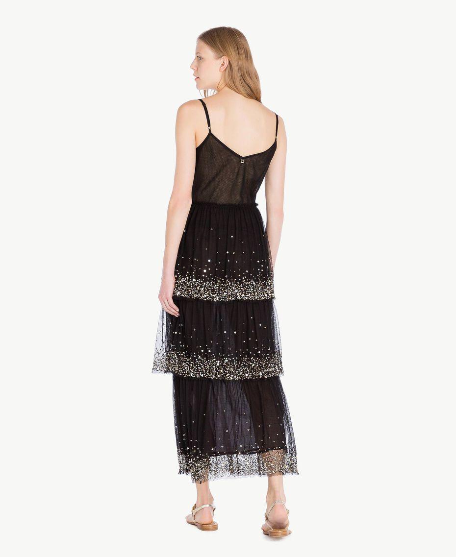 Kleid aus Tüll Schwarz Frau TS82EG-03