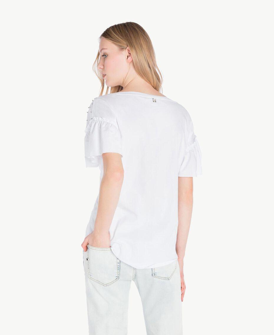 T-shirt broderie Blanc Femme YS82E3-03