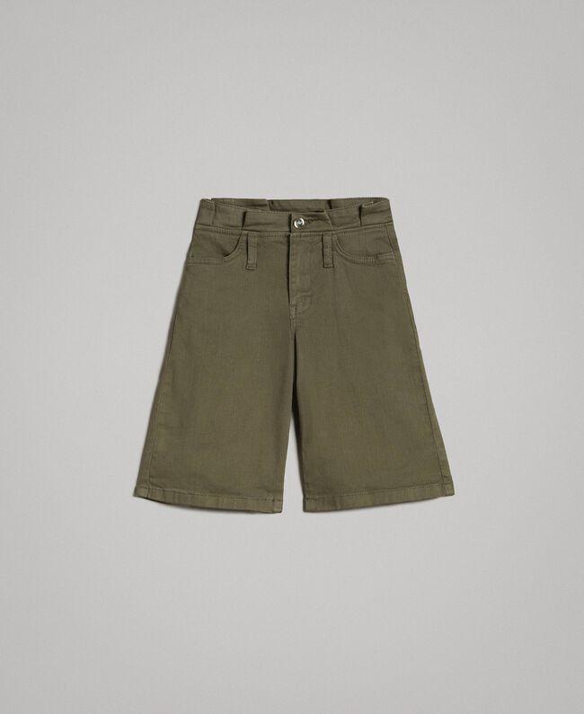 Cotton bull bermuda shorts Tundra Green Child 191GJ2493-01