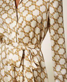 Robe chemisier avec imprimé de chaînes Imprimé Chaîne Ivoire / Or Femme 202TT2210-05