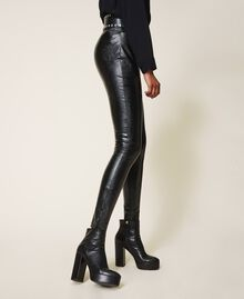 Platform leather ankle boots Black Woman 202TCP152-0S