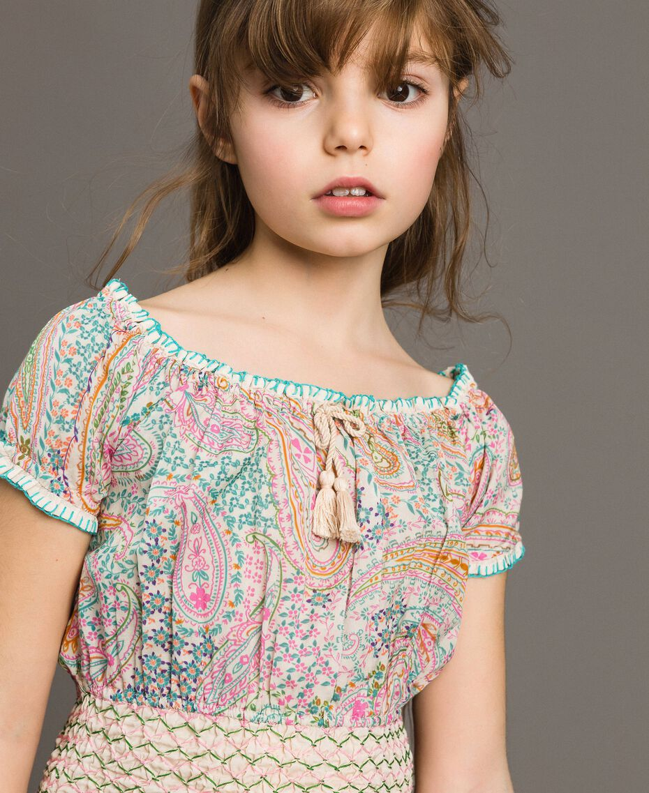 Muslin blouse with paisley print Paisley Print Child 191GJ2512-0S
