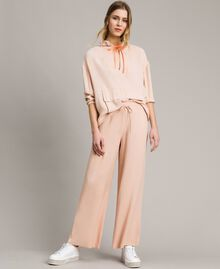 Crêpe palazzo trousers Delicate Pink Woman 191LL23EE-02