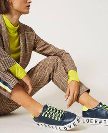Sneakers mit Logo Blackout Blau Frau 202LIPZCC-0S