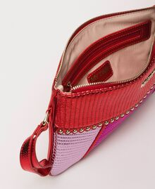 Mehrfarbige Pochette aus Lederimitat Multicolor Rot / Pink / Fuchsia Frau 201MA7025-04