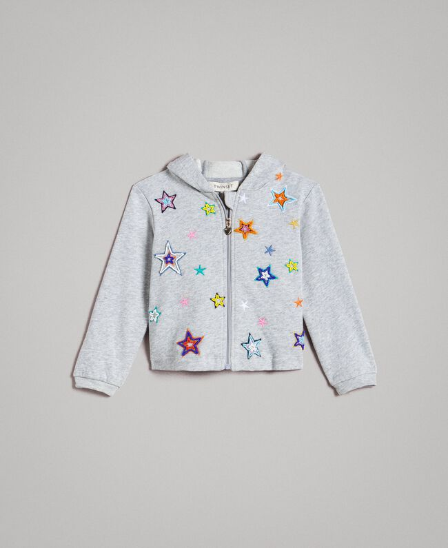 5cfb3b865 Stretch cotton sweatshirt with embroidered stars Child