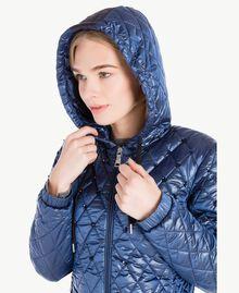 Long embroidered padded jacket Midnight Blue JA72KB-04