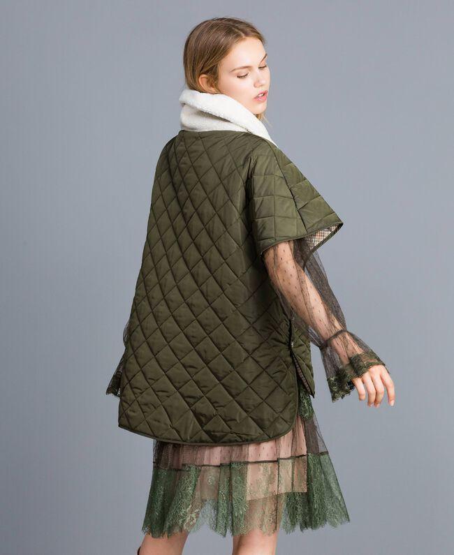 Doudoune réversible matelassée Vert Forêt Femme TA82B1-03