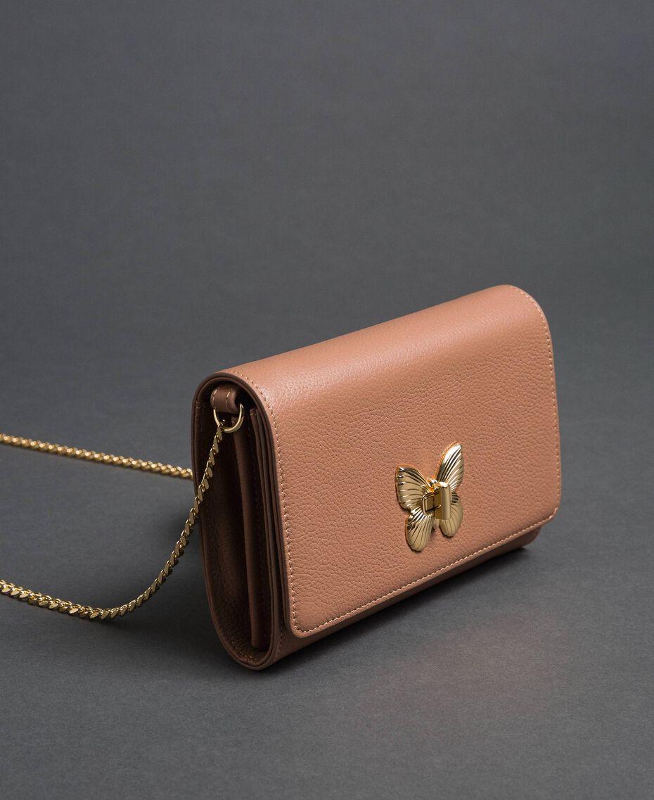 Borsa a tracolla piccola con girello a farfalla Pink Mousse Donna 192TA7022-01