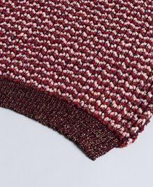 Lurex jacquard scarf Bordeaux Woman AA8P2J-02
