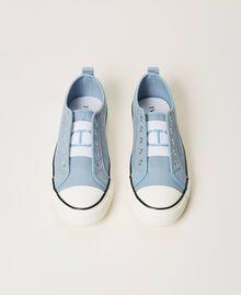 Sneakers de lona con logotipo Denim Mujer 211TCT170-05