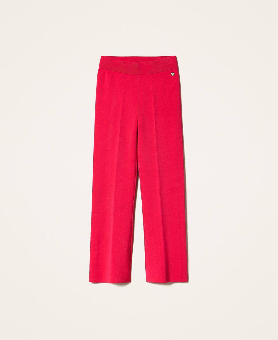 """Трикотажные брюки фуксия """"светлая вишня"""" женщина 202MP3104-0S"""
