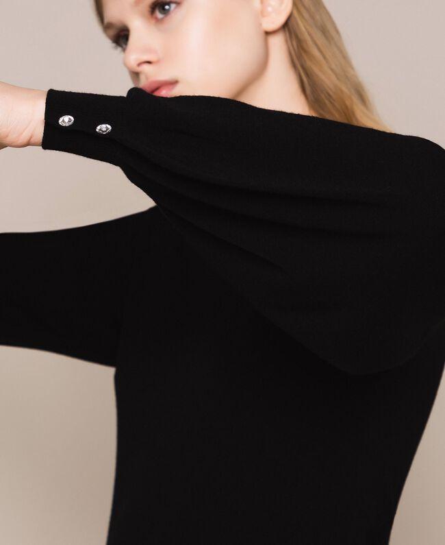 Платье с пуговицами-стразами Черный женщина 201TP3101-05