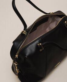 Faux leather bowler bag Black Woman 201TA7162-05