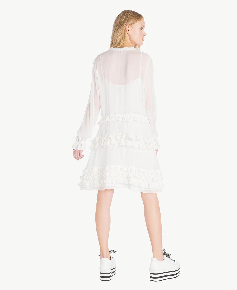 Ruched mini dress Parchment White Woman JS82NC-03