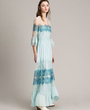 c6233560a5f Georgette and lace long dress Georgette and lace long dress
