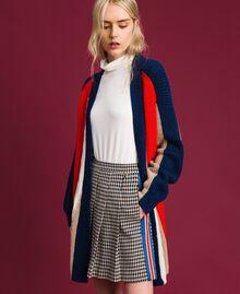 Maxi cardigan en mélange de laine et alpaga Rouge «Corail» / Bleu / Beige Femme 192MT3073-02