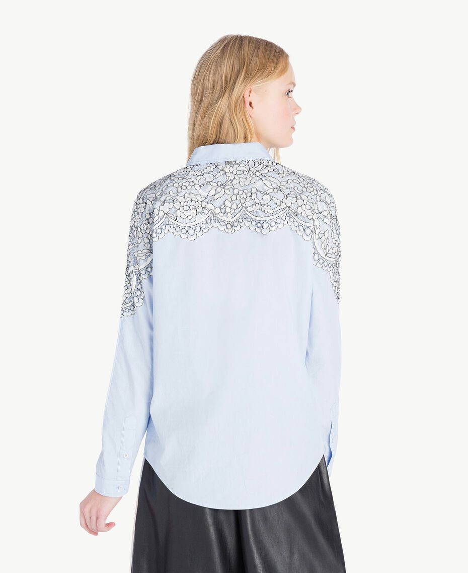 Lace shirt Topaze Sky Blue Woman JS82D2-03