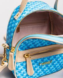 Butterfly print mini backpack Mikonos Light Blue Butterflies Print Woman 191TA7176-05