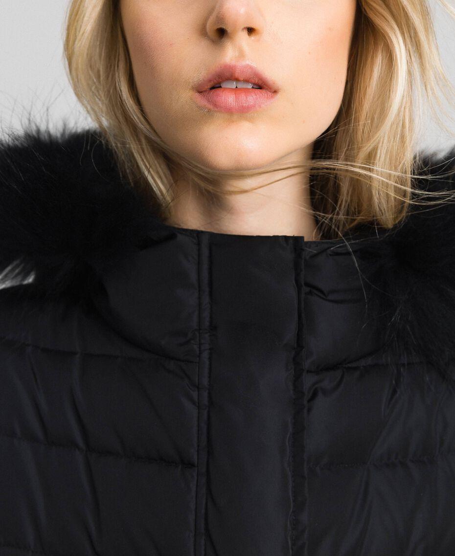 Doudoune longue en plumes véritables Noir Femme 192TT2173-05