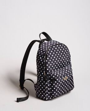 Technical fabric polka dot backpack ... 5fb11f6628e6f