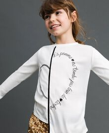 Asymmetric T-shirt with print White Child 192GJ2641-01