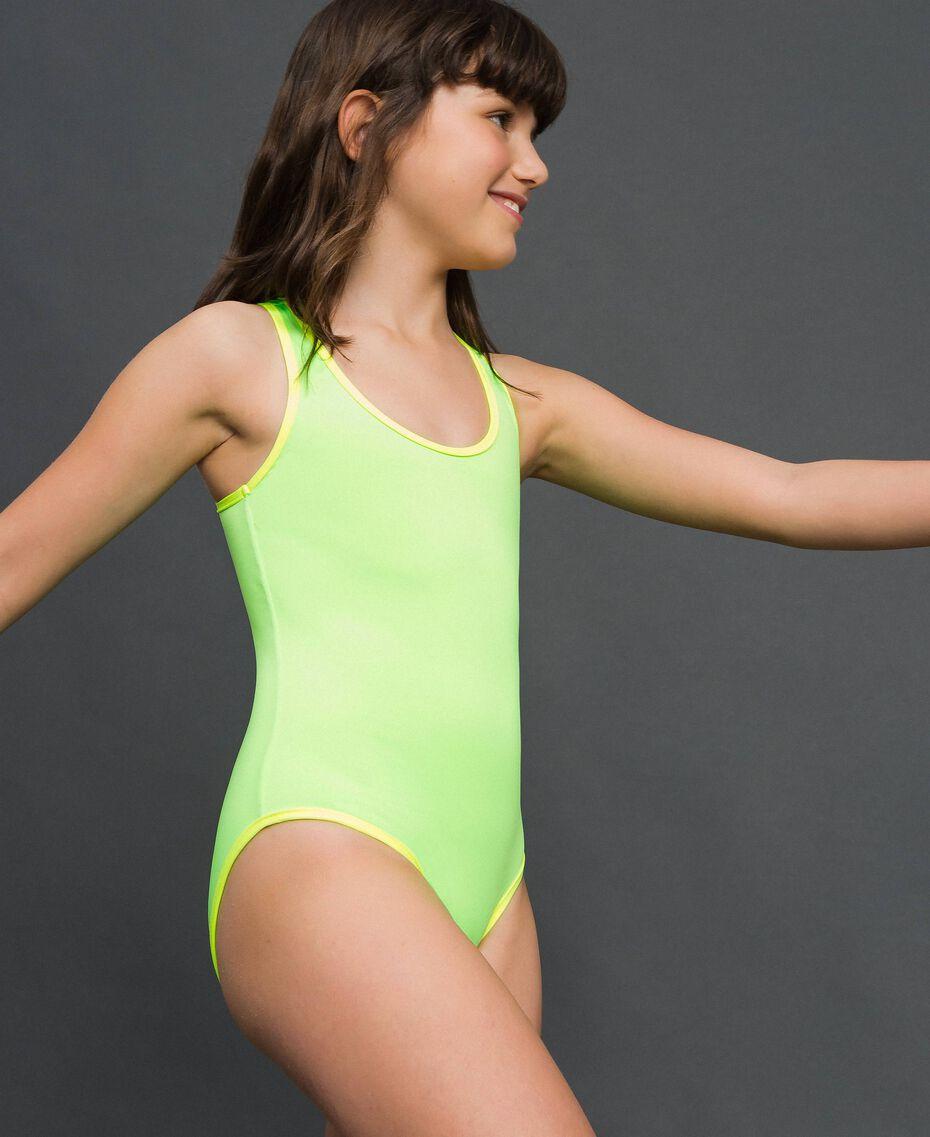 Maillot une-pièce Vert Fluo / Jaune Fluo Enfant 191TQM026-02