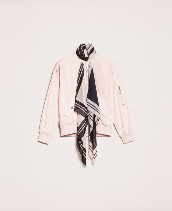Bomber jacket with scarf