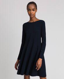 Knitted full dress Midnight Blue Woman 192TT3281-05