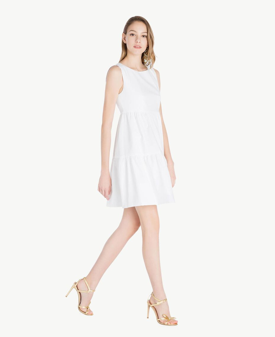 Robe popeline Blanc Femme TS821F-02