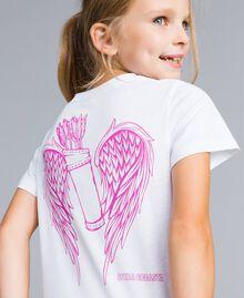 T-shirt unisex junior in cotone con stampa Bianco Bambina QA8TMP-0S