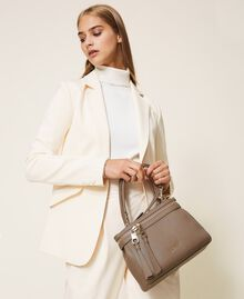 Small faux leather New Cécile bag Turtledove Woman 202TB7181-0S