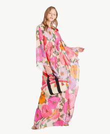 TWINSET Straw bag Multicolour Provocateur Pink / Orange / Black Woman OS8THA-05