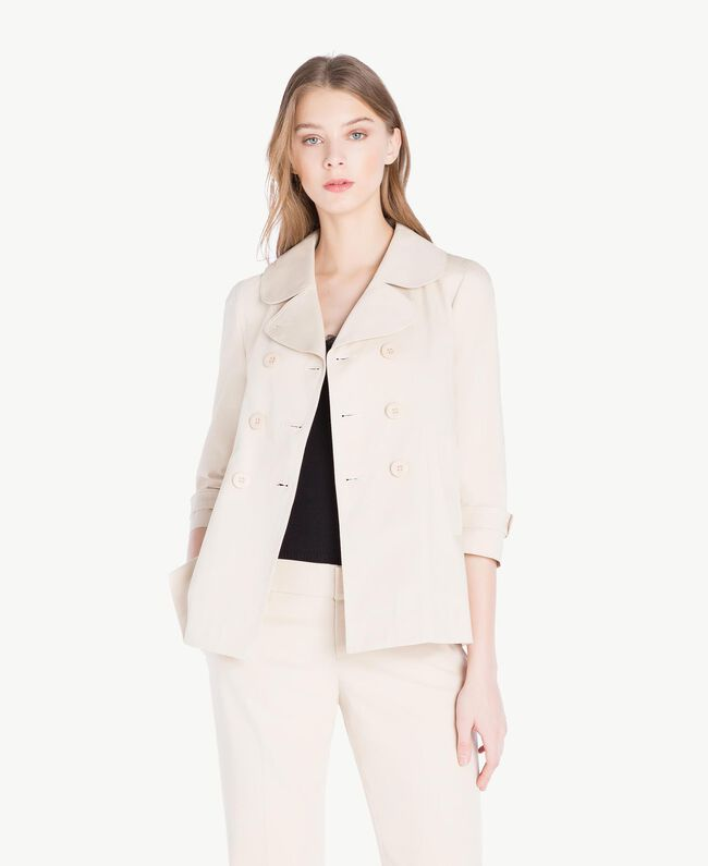 Trench toile Écru Femme PS824N-01